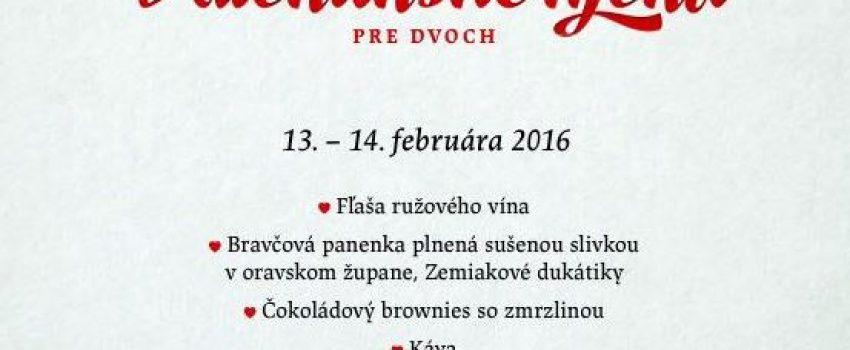 Naše Valentínske menu