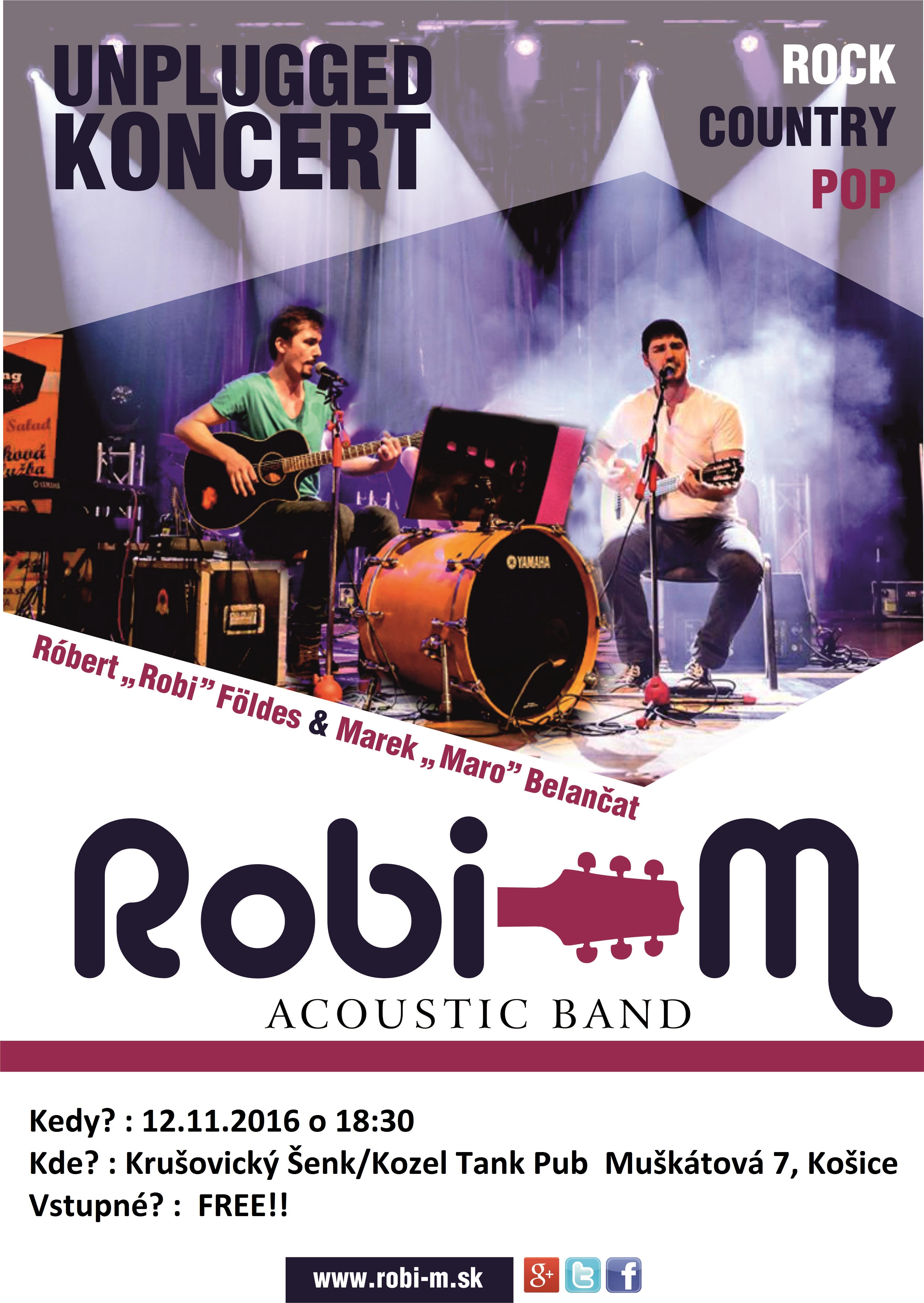 Koncert Robi-M – 12.11.2016 o 18:30